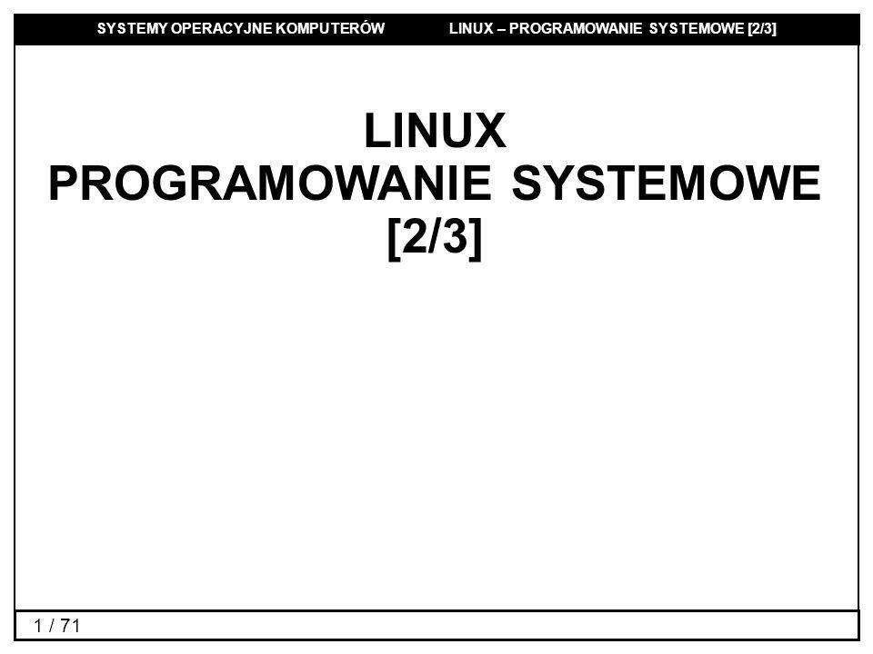 PROGRAMOWANIE SYSTEMOWE [2/3]